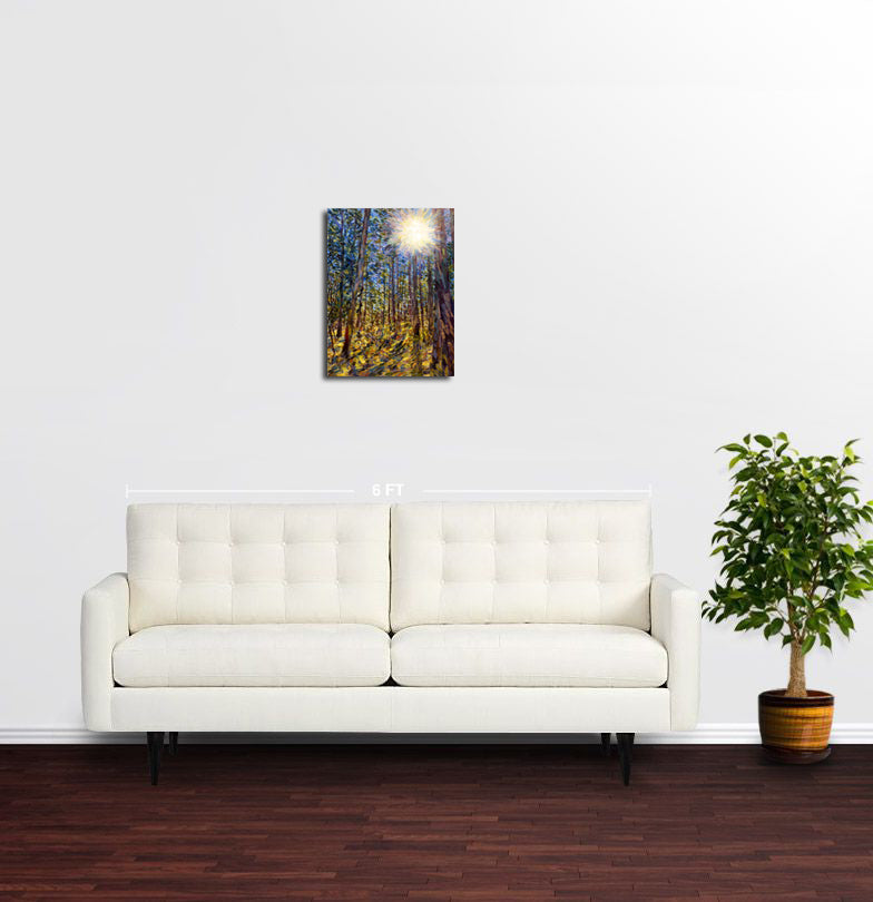 Sunstar through the Trees, Sarajevo - Original Limited Edition Landscape Painting