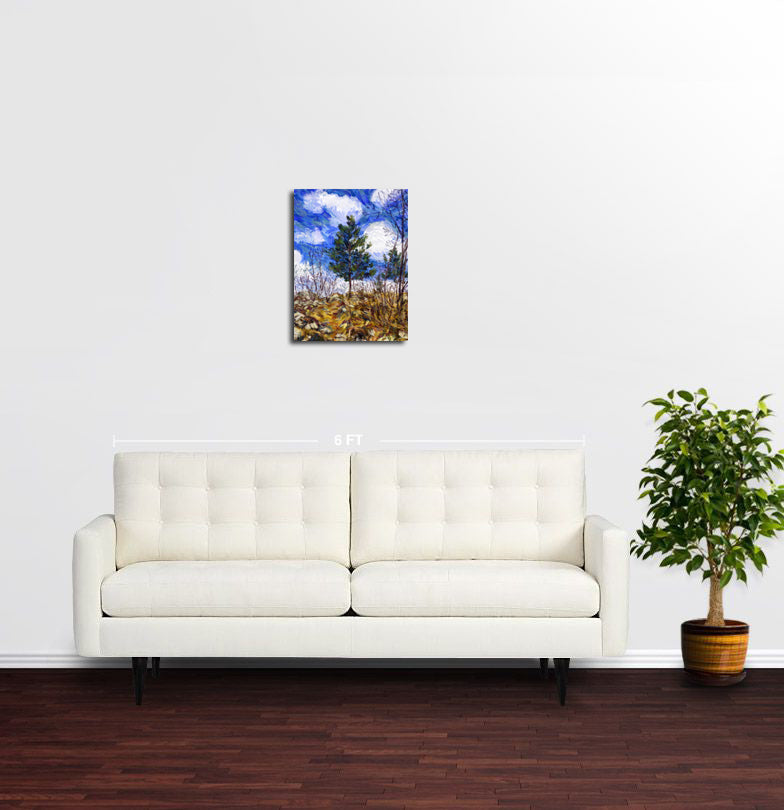 Little Pine Tree, Sarajevo - Original Limited Edition Landscape Painting