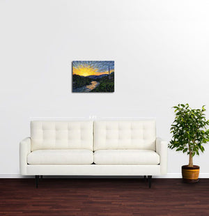 Sunset, Mostar - Original Limited Edition Landscape Painting
