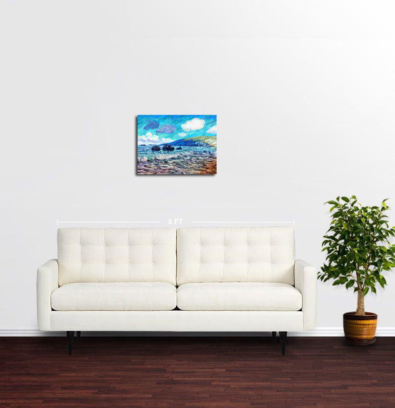 Wavy Morning, Herceg Novi - Original Limited Edition Landscape Painting