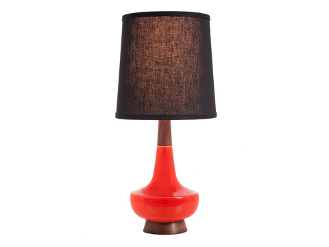 Alberta Lamp, Red + Walnut
