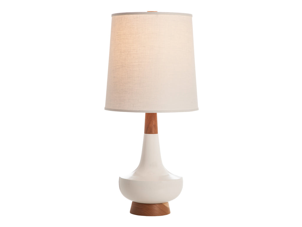 Alberta Lamp, White + Cherry - Caravan Pacific - Modern Anthology