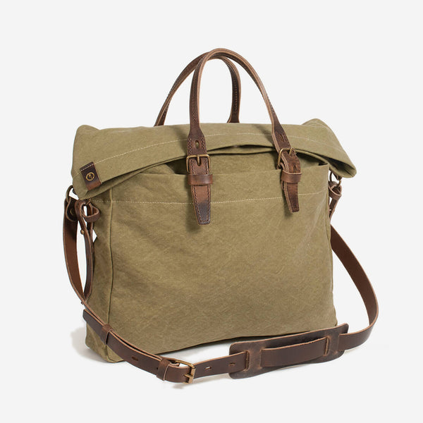 Bleu de Chauffe - Remix Business Bag Khaki Stonewashed - Personal Accessories - Bag - Briefcase - Modern Anthology-