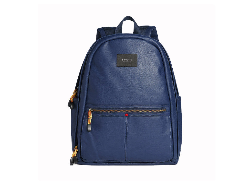 STATE BAGS - Bedford Backpack Waxed Canvas Navy - Modern Anthology - 1