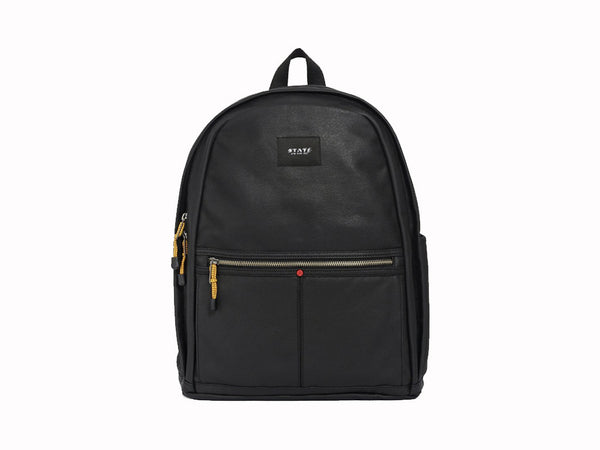 STATE BAGS - Bedford Backpack Waxed Canvas Black - Modern Anthology - 1