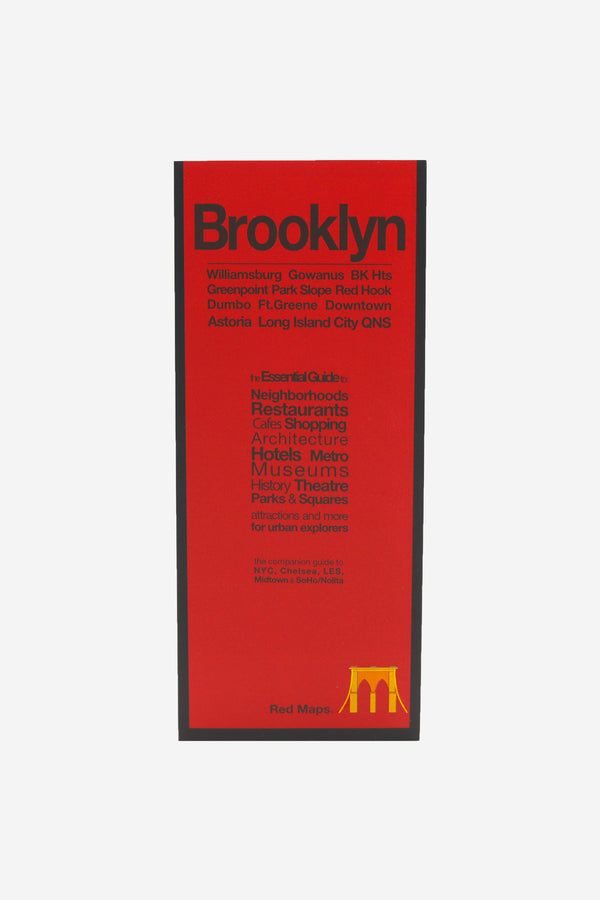 RED MAPS - Redmap Brooklyn Guide Map - Habitat - Office - BookMedia - Modern Anthology-