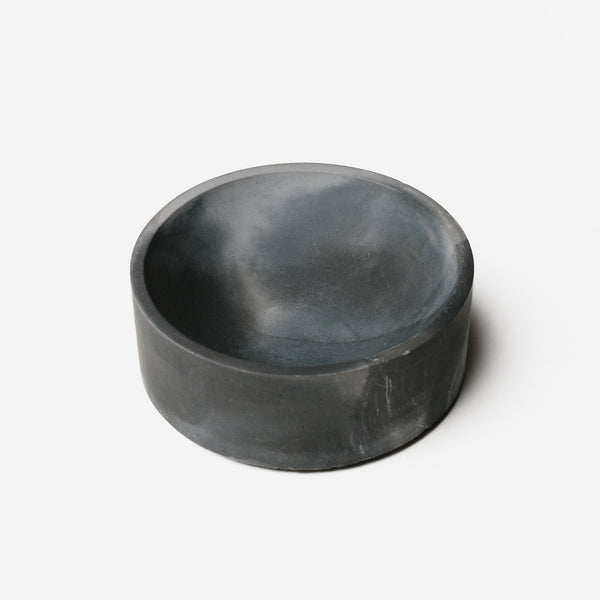 "Pretti Cool - Pretti Cool Concrete Concave Vessel 4"" Black Grey - Habitat - Office - Office AccessoryTool - Modern Anthology-"