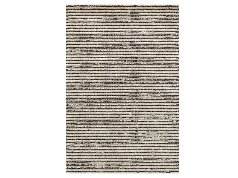 Dash & Albert - Cut Stripe Grey Rug - Home - Decor - Rug - Modern Anthology-