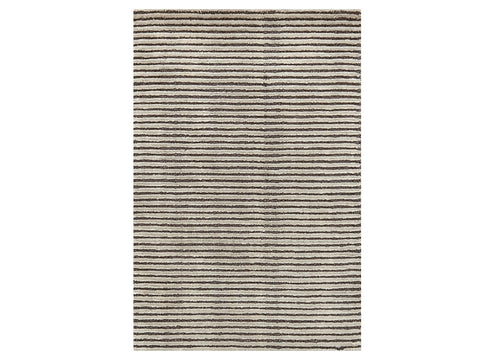 Cut Stripe Grey Rug