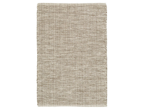 Marled Brown Cotton Rug