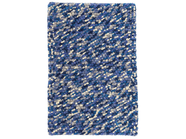 Dash & Albert - Seurat Blue Wool Woven Rug - Modern Anthology