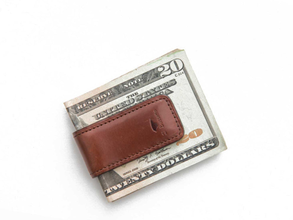 Modern Anthology - Leather Money Clip, Brown - CLOTHING + ACCESSORIES - Modern Anthology-