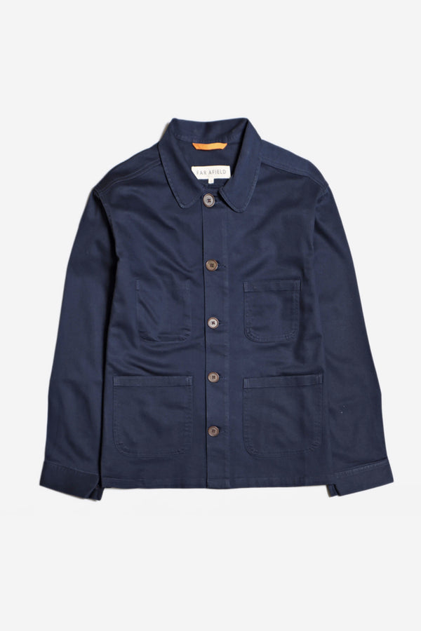 Far Afield - Far Afield Station Jacket, Blue - Clothing - Outerwear - Midweight Jacket - Modern Anthology-