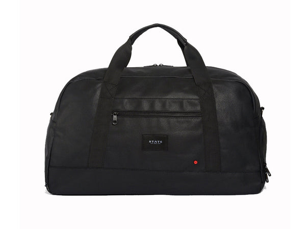 STATE BAGS - Franklin Duffel Bag Waxed Black - Personal Accessories - Bag - DuffelOvernight - Modern Anthology-