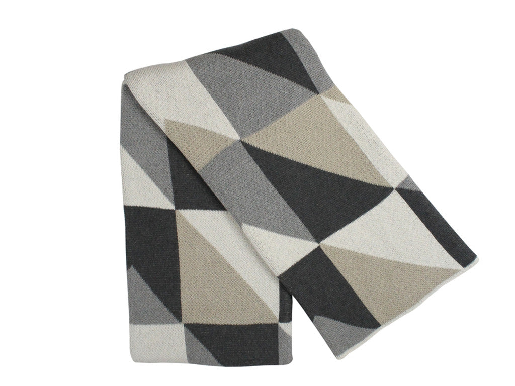Happy Habitat - Angles Throw Neutral - BEDBATH - Blanket - Throw Blanket - Modern Anthology-