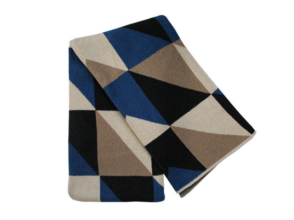 Happy Habitat - Angles Throw Cobalt - Modern Anthology - 1