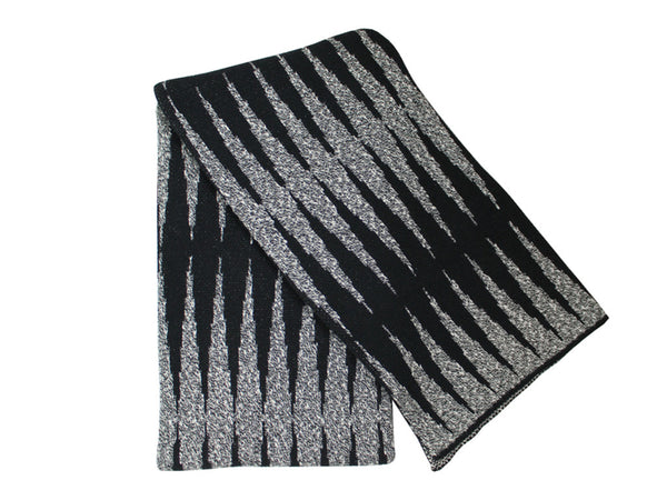 Happy Habitat - Static Throw Black & Ivory - Modern Anthology - 1