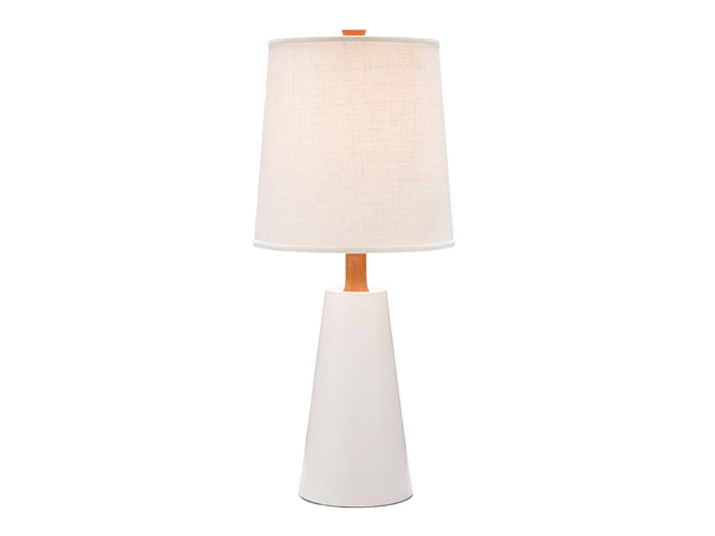 Hawthorne Lamp, White + Mahogany - Caravan Pacific - Modern Anthology