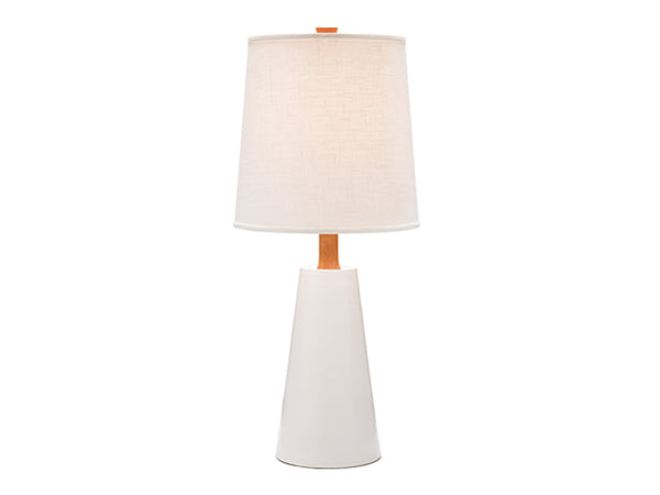 Caravan Pacific - Hawthorne Lamp, White + Mahogany -  - Modern Anthology-
