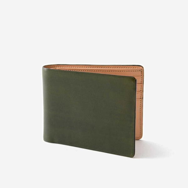 Il Bussetto - Slim Bi-Fold Wallet Pesto Green - Personal Accessories - Wallet - Credit Card - Modern Anthology-