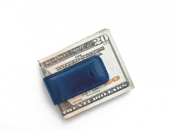 IL BUSSETTO - Money Clip Poseidon Blue - PERSONAL ACCESSORIES - Wallet - Credit Card - Modern Anthology-
