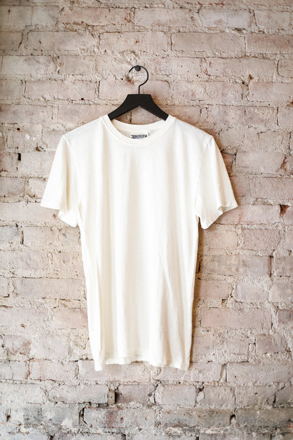 Jungmaven - JM Jung Tee 5oz, Washed White - CLOTHING - Top - Short Sleeve TShirt - Modern Anthology-