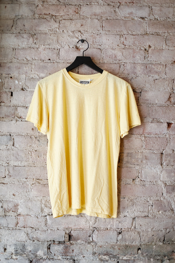 Jungmaven - JM Jung Tee 5oz, Pale Yellow - CLOTHING - Top - Short Sleeve TShirt - Modern Anthology-