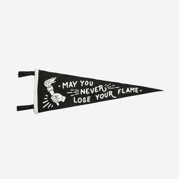 Oxford Pennant - Oxford Pennant Never Lose Your Flame Pennant - Habitat - Decor - Artwork & - Wall Hanging - Modern Anthology-