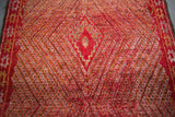 "OUIVE - ""Ruby"" Vintage Red Beni Mguild Moroccan Rug - 9'6""x6' ft - Home - Decor - Rug - Modern Anthology-"