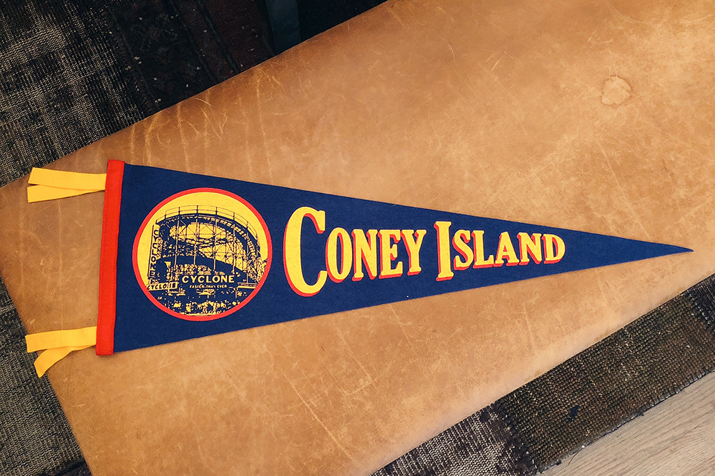 Oxford Pennant - Coney Island Pennant - HOME - Decor - Artwork & - Wall Hanging - Modern Anthology-