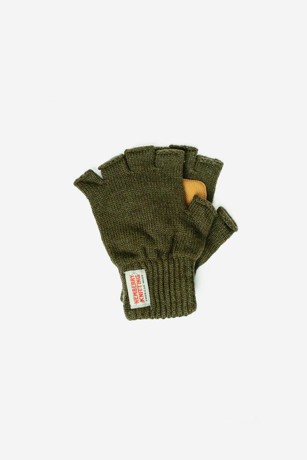 Newberry Knitting - Wool Fingerless Gloves Olive - Clothing - Clothing Accessory - Glove - Modern Anthology-