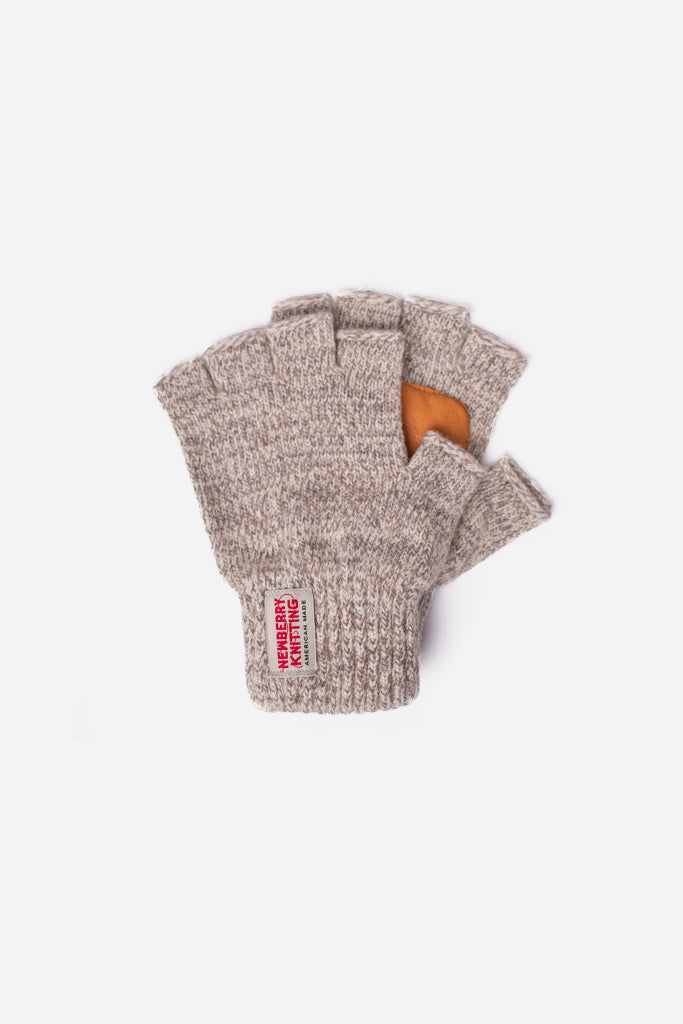 Newberry Knitting - Wool Fingerless Gloves, Grey - Clothing - Clothing Accessory - Glove - Modern Anthology-