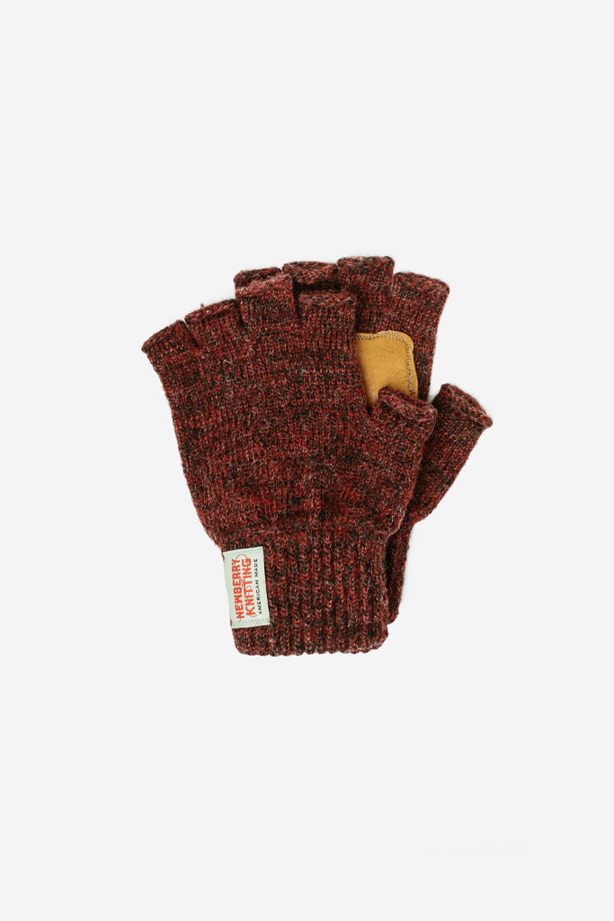 Newberry Knitting - Wool Fingerless Glove Red - Clothing - Clothing Accessory - Glove - Modern Anthology-