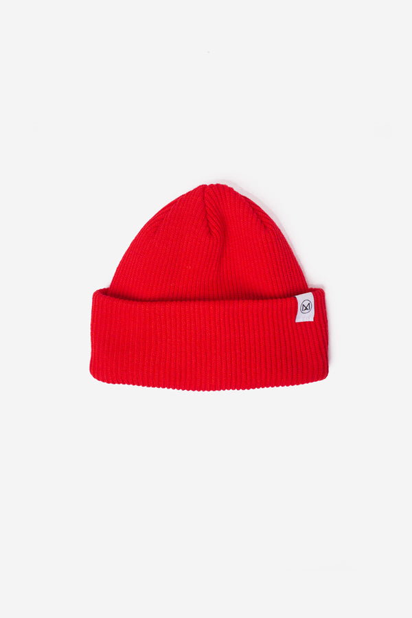 MA Classic Knit Beanie Red