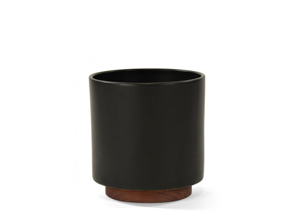 Modernica Inc - Case Study Planter Large Cylinder with Plinth Black - HOME - Decor - Planter - Modern Anthology-