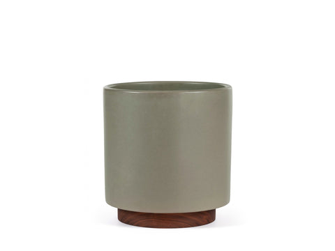Case Study Planter Large Cylinder with Plinth Pebble