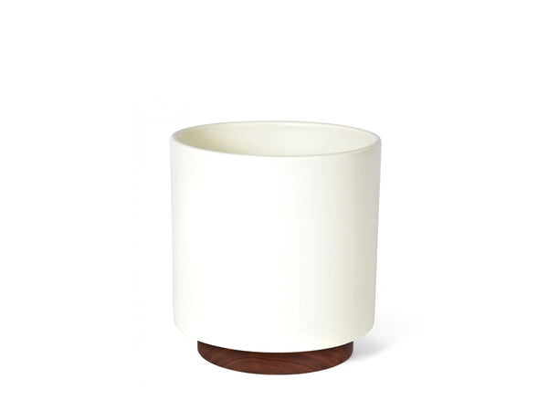 Modernica Inc - Case Study Planter Large Cylinder with Plinth White - Habitat - Decor - Planter - Modern Anthology-