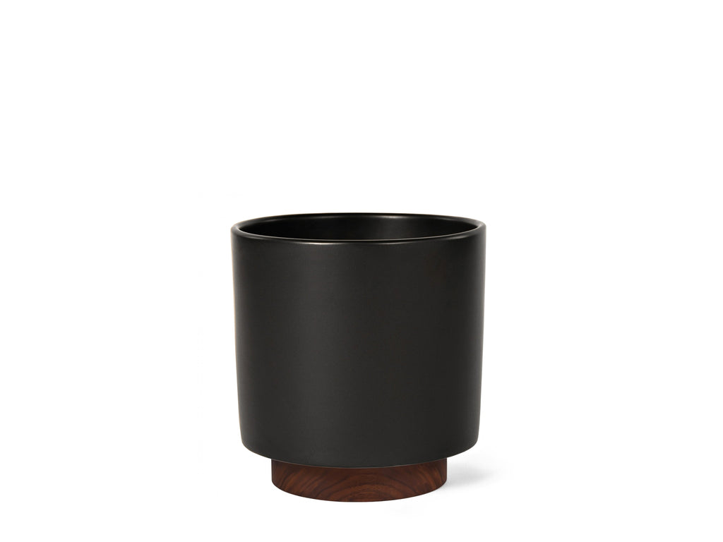 Modernica Inc - Case Study Planter Small Cylinder with Plinth Black - HOME - Decor - Planter - Modern Anthology-
