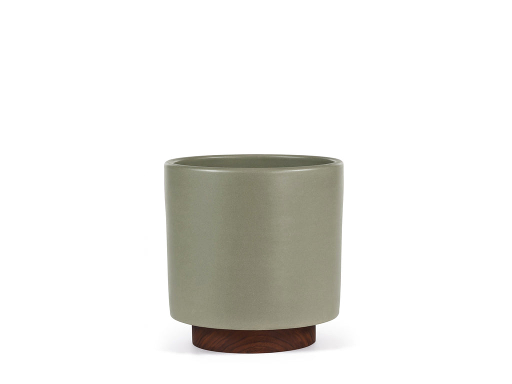 Modernica Inc - Case Study Planter Small Cylinder with Plinth Pebble - HOME - Decor - Planter - Modern Anthology-