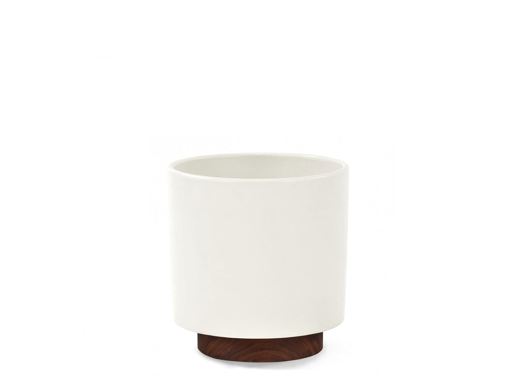 Modernica Inc - Case Study Planter Small Cylinder with Plinth White - HOME - Decor - Planter - Modern Anthology-