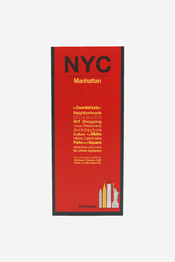 RED MAPS - Redmap New York City Guide Map - Habitat - Office - BookMedia - Modern Anthology-