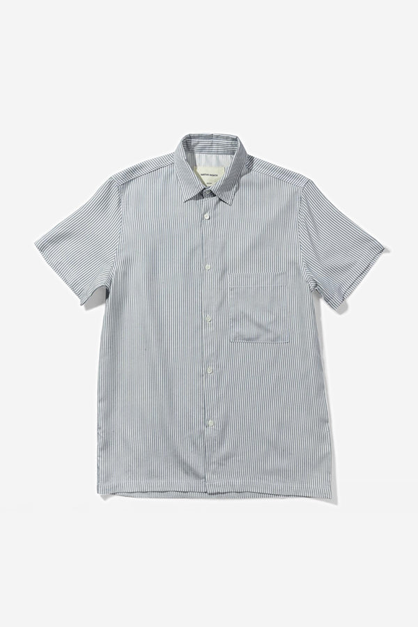 Native North - Native North Stripe Shirt, Blue - CLOTHING - Top - Short Sleeve Shirt - Modern Anthology-