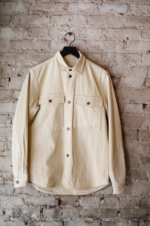 Native North - Native North Overshirt, Sand - CLOTHING - Top - Long Sleeve Button Down Shirt - Modern Anthology-