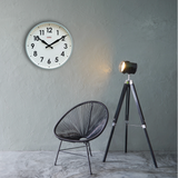 Factory Industrial Numbers Clock, Large Sage