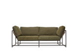 STEPHEN KENN - Two Seat Sofa Military Canvas & Blackened Steel - FURNITURE - Sofa - Sofa - Modern Anthology-