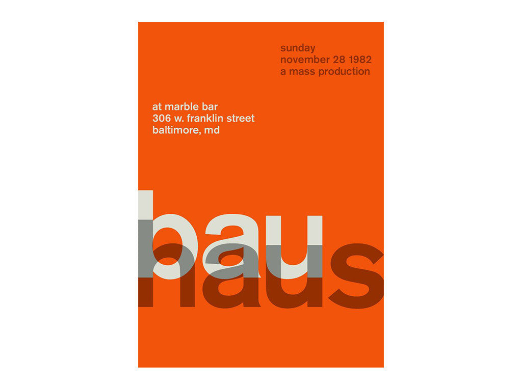 Swissted - Bauhaus at Marble Bar 1982 Poster - Home - Decor - Artwork Print - Modern Anthology-