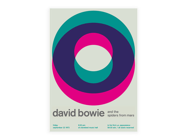 Swissted - David Bowie Poster - Habitat - Decor - Artwork Wall Hanging - Modern Anthology-