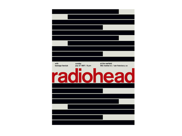 Swissted - Radiohead at the warfield 1997 - Home - Decor - Artwork Print - Modern Anthology-