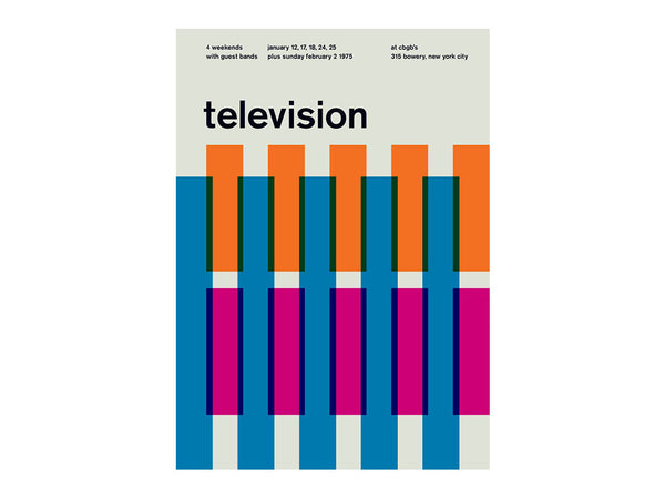 Swissted - Television at CBGB's 1975 Poster - HOME - Decor - Artwork Print - Modern Anthology-