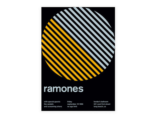 Swissted - Ramones Poster - Home - Decor - Artwork Print - Modern Anthology-
